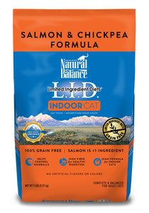 Natural Balance LID Indoor Salmon and Chickpea Dry Cat Food 5-lb at NJPetSupply.com