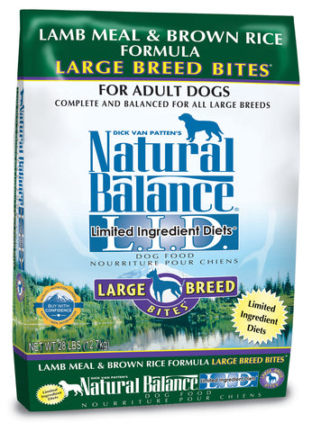 Natural Balance L.I.D. Lamb Meal & Brown Rice Large Breed Dry Dog Food