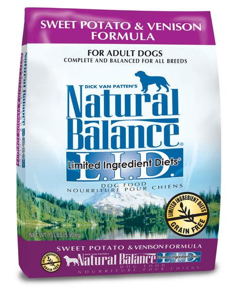 Natural Balance L.I.D. Sweet Potato & Venison Dry Dog Food 4-lb at NJPetSupply.com