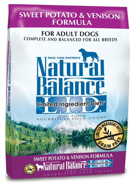 Natural Balance L.I.D. Sweet Potato & Venison Dry Dog Food 13-lb at NJPetSupply.com