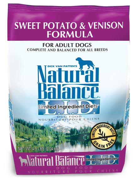 Natural Balance L.I.D. Sweet Potato & Venison Dry Dog Food 26-lb at NJPetSupply.com