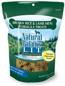 Natural Balance L.I.T. Limited Ingredient Treats Brown Rice & Lamb Meal Formula