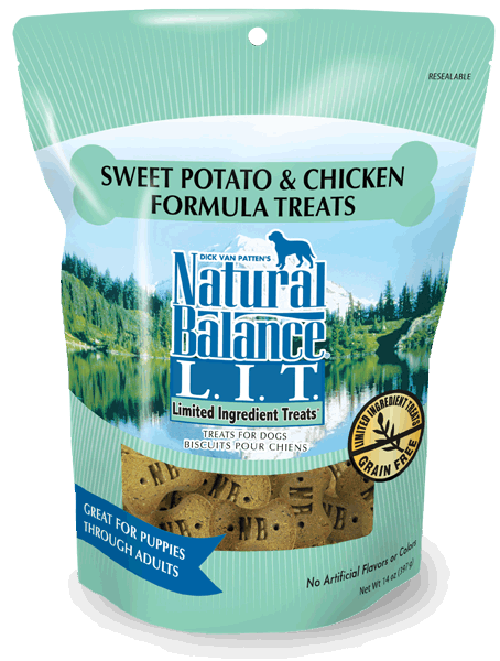 Natural Balance L.I.D. Limited Ingredient Treats Sweet Potato & Chicken Formula 8-oz at NJPetSupply.com