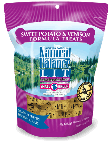 Natural Balance L.I.D. Limited Ingredient Treats Sweet Potato & Venison Formula 8-oz at NJPetSupply.com