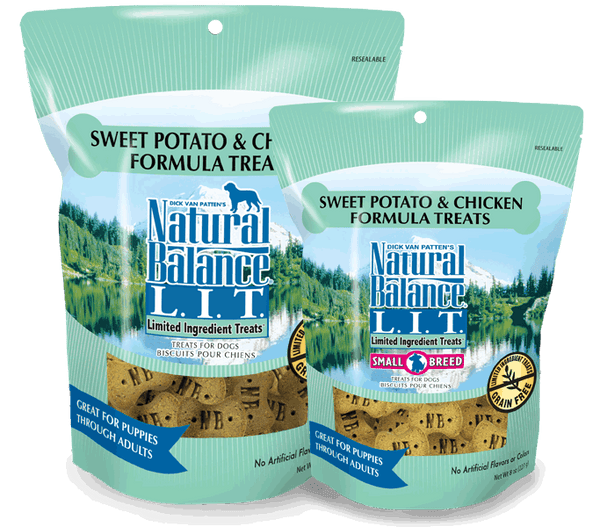 Natural Balance L.I.D. Limited Ingredient Treats Sweet Potato & Chicken Formula at NJPetSupply.com