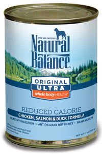 Natural Balance Ultra Premium Reduced Calorie Canned Dog Food, 13-oz, case of 12