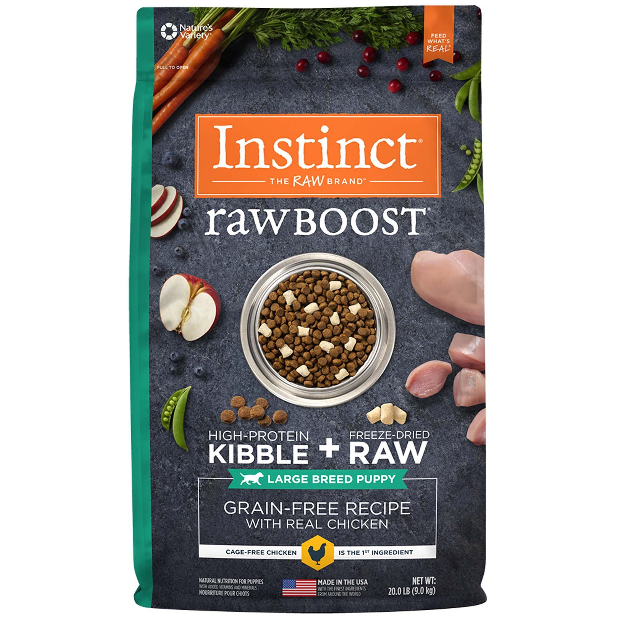 Nature's Variety Instinct Raw Boost Large Breed Puppy Chicken Dry Dog Food at NJPetSupply.com