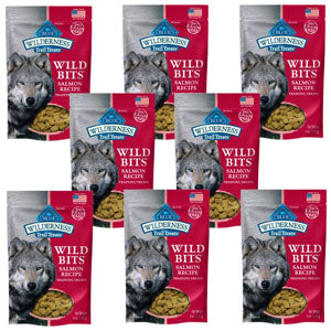 Blue Buffalo Wilderness Trail Treats Salmon Wild Bits - Grain-Free Dog Training Treats - NJ Pet Supply