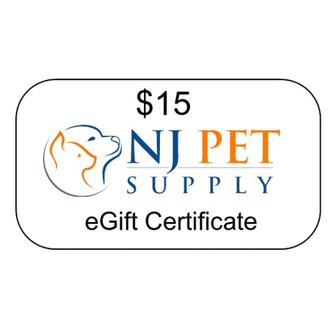 $15 eGift Certificate at NJPetSupply.com
