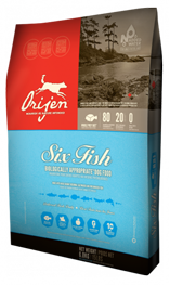 Orijen Six Fish Dry Dog Food 4.5-lb Bag at NJPetSupply.com