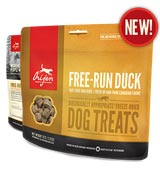 Orijen Freeze Dried Dog Treats, Free Run Duck (S.O.) at NJPetSupply.com