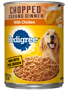 Pedigree Chopped Ground Chicken Canned Wet Dog Food at NJPetSupply.com