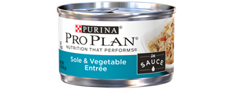 Pro Plan Savor Adult Sole and Vegetable Entree in Sauce at NJPetSupply.com