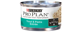 Pro Plan Savor Adult Trout and Pasta Entree in Sauce at NJPetSupply.com