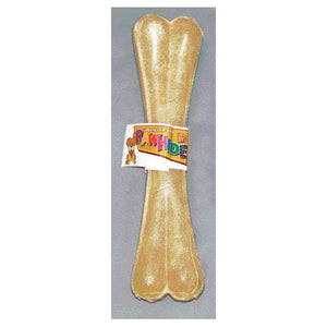 "Pressed Rawhide Bone, 8"" Single Dog Bone at NJPetSupply.com"