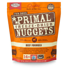 Primal Nuggets Canine Beef Formula Freeze-Dried Dog Food at NJPetSupply.com