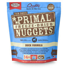 Primal Nuggets Canine Duck Formula Freeze-Dried Dog Food