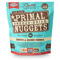Primal Nuggets Feline Chicken and Salmon Formula Freeze-Dried Cat Food at NJPetSupply.com