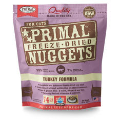 Primal Nuggets Feline Turkey Formula Freeze-Dried Cat Food