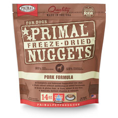 Primal Nuggets Canine Pork Formula Freeze-Dried Dog Food
