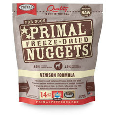 Primal Nuggets Canine Venison Formula Freeze-Dried Dog Food