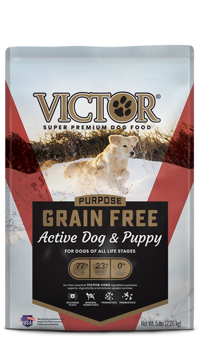 Victor Purpose Grain Free Active Dog & Puppy Dry Food at NJPetSupply.com