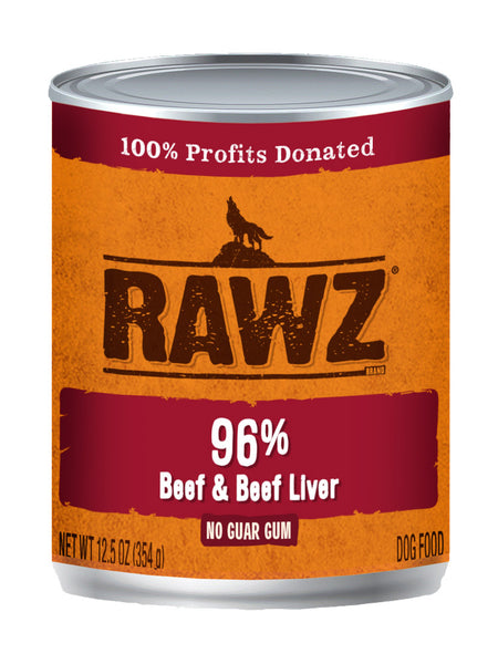 RAWZ 96% Meat Beef and Beef Liver Wet Dog Food