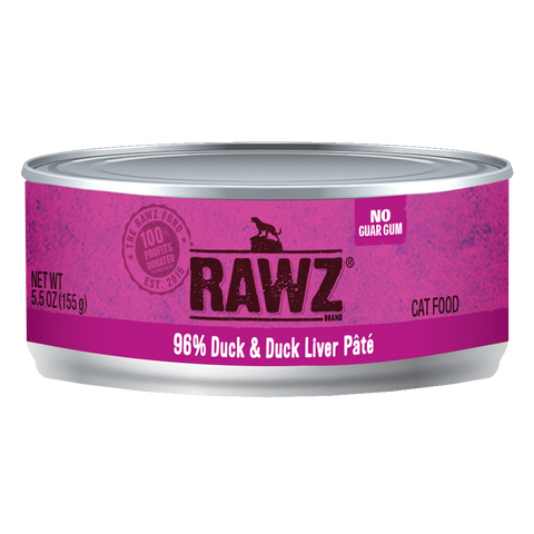 RAWZ 96% Duck and Duck Liver Pate Wet Cat Food