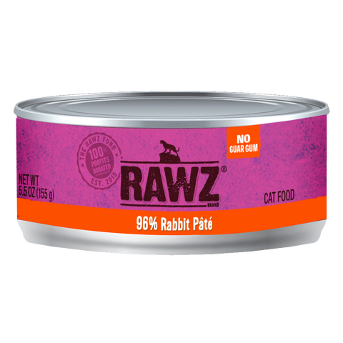 RAWZ 96% Rabbit Pate Wet Cat Food at NJPetSupply.com