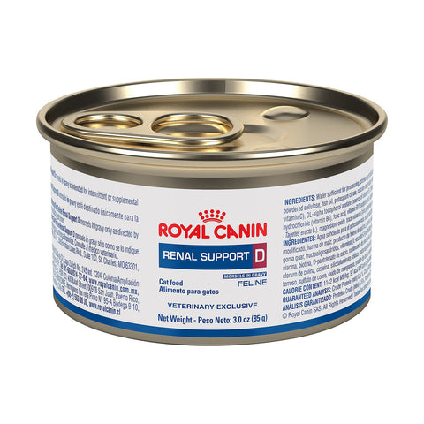 Royal Canin Veterinary Diet Feline Renal Support D Morsels in Gravy Wet Cat Food