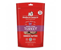 Stella & Chewy's Tantalizing Turkey Freeze-Dried Dinner Patties for Dogs