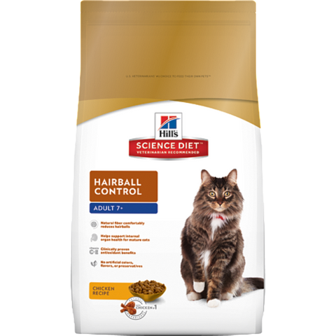 Science Diet Cat Mature Adult 7+ Hairball Control Dry Cat Food