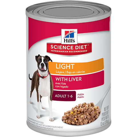 Science Diet Adult Light With Liver Canned Wet Dog Food at NJPetSupply.com