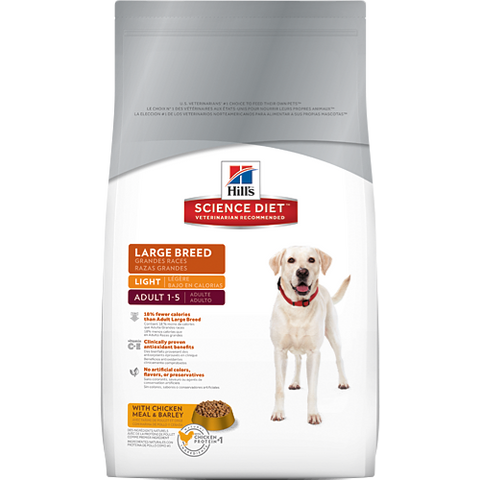 Science Diet Canine Adult Light Large Breed Dry Dog Food