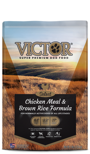 Victor Select Chicken Meal & Brown Rice Formula Dry Dog Food at NJPetSupply.com