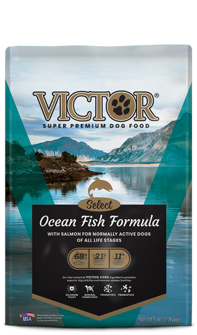 Victor Select Ocean Fish Formula with Salmon Dry Dog Food at NJPetSupply.com