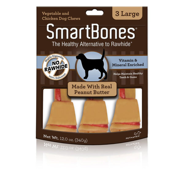 SmartBones Peanut Butter Classic Dog Bone Chews, 6-count Small at NJPetSupply.com