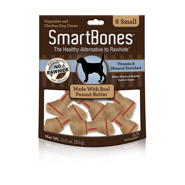 SmartBones Peanut Butter Classic Dog Bone Chews, 3-count Large at NJPetSupply.com