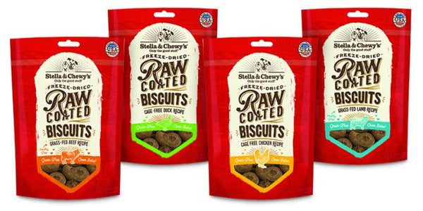 Stella & Chewy's Raw Coated Dog Biscuits at NJPetSupply.com