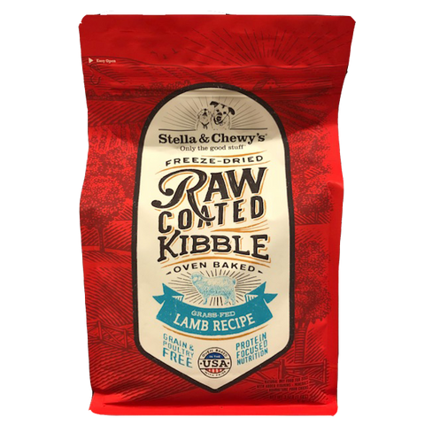 Stella & Chewy's Raw Coated Kibble Grass-Fed Lamb Recipe Dry Dog Food