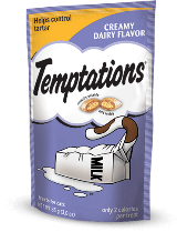 Whiskas Temptations Treats for Cats, Creamy Dairy Flavor 3-oz at NJPetSupply.com