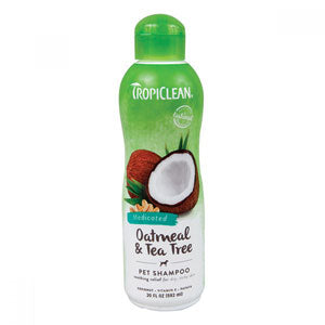 TropiClean Oatmeal & Tea Tree Medicated Shampoo