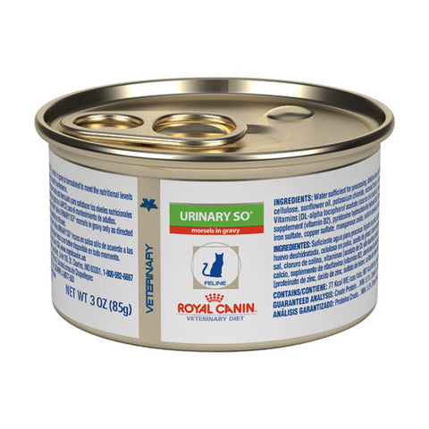 Royal Canin Veterinary Diet Feline Urinary SO Morsels in Gravy Wet Cat Food