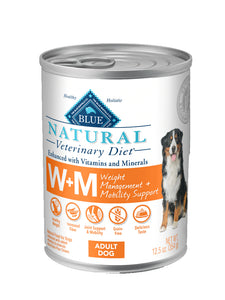 Blue Natural Veterinary Diet W+M Weight Management & Mobility Wet Dog Food