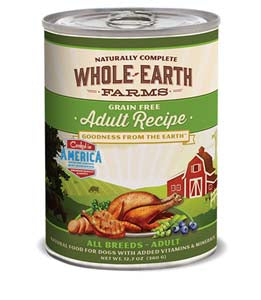 Whole Earth Farms Grain Free Adult Recipe Canned Wet Dog Food at NJPetSupply.com