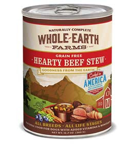 Whole Earth Farms Grain Free Hearty Beef Stew Canned Wet Dog Food at NJPetSupply.com