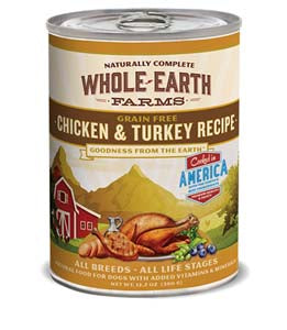 Whole Earth Farms Grain Free Chicken and Turkey Canned Dog Food
