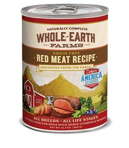 Whole Earth Farms Grain Free Red Meat Recipe Canned Dog Food