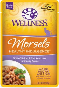 Wellness Healthy Indulgence Natural Grain Free, Morsels With Chicken & Chicken Liver in Savory Sauce