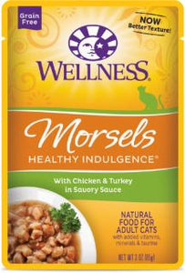 Wellness Healthy Indulgence Natural Grain Free, Morsels With Chicken & Turkey in Savory Sauce